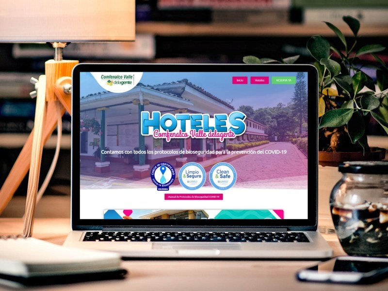 Comfenalco Valle <br> Hoteles Landing Page